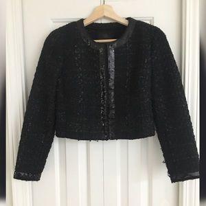 BANANA REPUBLIC Black Sequin Crop Jacket 6